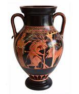 Heracles and Cerberus - Red Figure Amphora Vase - Museum Replica - $399.00