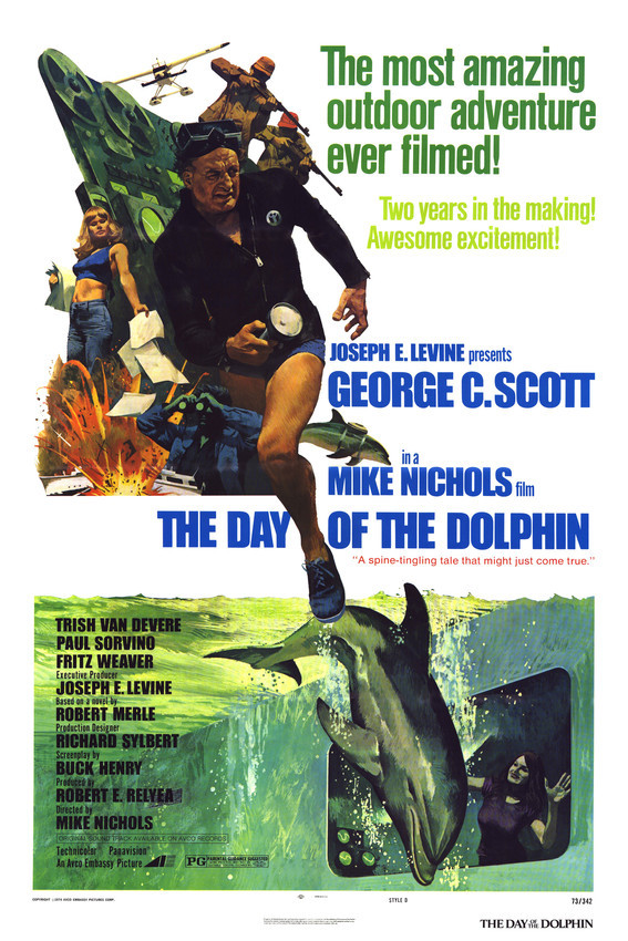 George C. Scott and Trish Van Devere in The Day of The Dolphin Great Art 16x20 C - $69.99