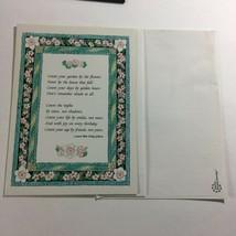 VINTAGE Blank Greeting CARD Poem by Laura Mae Utley Gibson  Unused  - $6.68