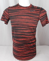 Nike dry fit fitted short sleeve tee shirt orange black size S - $13.91