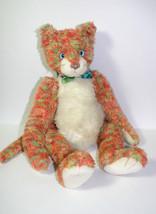"TY ALLIOOP 18"" Large Orange Green CAT Plush Stuffed Animal 2000 Retired - $11.87"