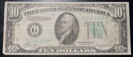 1934 A $10 Ten Dollars Federal Reserve Chicago *Star* Rare Replacement Note - $69.30