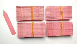 """2000 Pink Plastic Plant Stakes Labels Nursery Tags Made in USA - 4"""" X 5/8"""" - $78.21"""