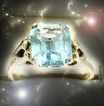 Haunted Alexandria Ring Dry My Tears Forever Elminate Sorrows Ooak Magickal - $7,077.88