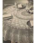 1970 Knit Crochet Lace Doily Place Mat Pineapple Tablecloth Bikini Tote ... - $10.99