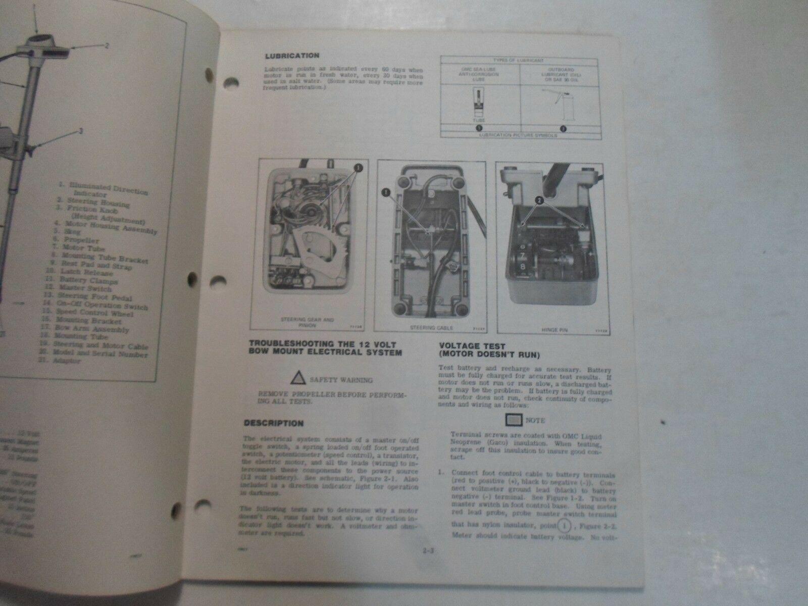 1977 Evinrude Service Shop Repair Manual Electric EB 52 54 82 84 OEM Boat WORN image 8