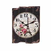 PANDA SUPERSTORE Vintage Look Wooden Wall Clock Cool Muted Wall Clock(16... - $60.27