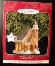 Hallmark Keepsake Christmas Ornament 1998 The Stone Church Candlelight S... - $8.99