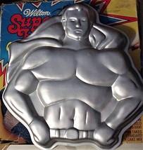 Wilton Super Hero Cake Pan Set W/ Box Batman & Superman 1977 Dc Comics - $29.90