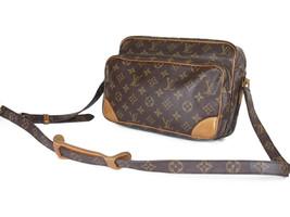 LOUIS VUITTON Vintage Nile Monogram Canvas Crossbody Shoulder Bag LS3027 - $459.00