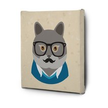Hipster Animals Pictures Canvas Wall Art Decal Painting Prints Cat1 - $19.85+