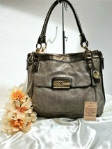 Rare Coach Kristin Embossed Python N/S Zip Tote in Brown - Style 18307 $... - $222.74