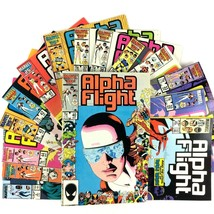 Alpha Flight Comic Book Lot 15 Issues Marvel Copper Age Avengers X-Men Wolverine - $34.60