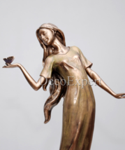 Woman with Butterfly Sculpture * Free Shipping   - $98.01