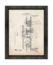 Mobile Mount For Heavy Artillery Patent Print Old Look with Beveled Wood Frame - $24.95+