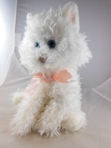"Russ Berrie 10"" White Cat Kitty Plush FUFFI So Very cute BLUE eyes - $13.26"