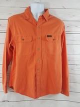 Men's POLO by Ralph Lauren Orange  Large Button-Down Shirt 100% cotton - $23.19
