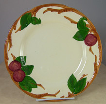 Franciscan Pottery Apple Dinner Plate Cream Red Green 10-5/8 inches - $10.74