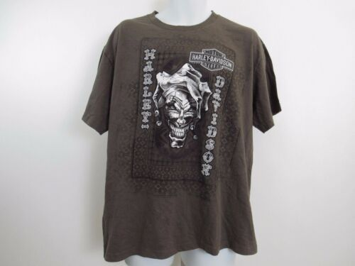 Harley Davidson T Shirt Mens Extra Large XL Brown Fond Du Lac Wisconsin