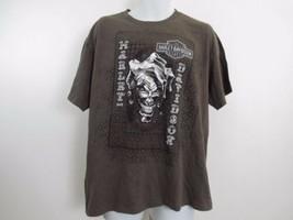 Harley Davidson T Shirt Mens Extra Large XL Brown Fond Du Lac Wisconsin image 1
