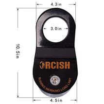 ORCISH 10T Recovery Winch Snatch Pulley Block 22000lb Capacity Black image 3