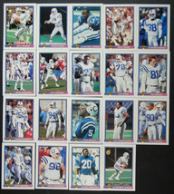 1991 Bowman Indianapolis Colts Team Set of 19 Football Cards - $4.00