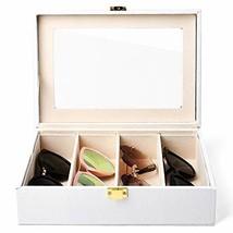 Oirlv White Leather Women Men Sunglasses Organizer Eyewear Storage Box w... - $45.29
