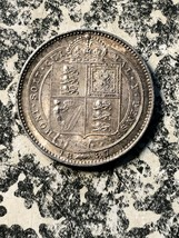 1887 Great Britain 1 Shilling Lot#JM1052 Silver! High Grade! Beautiful! - $70.13