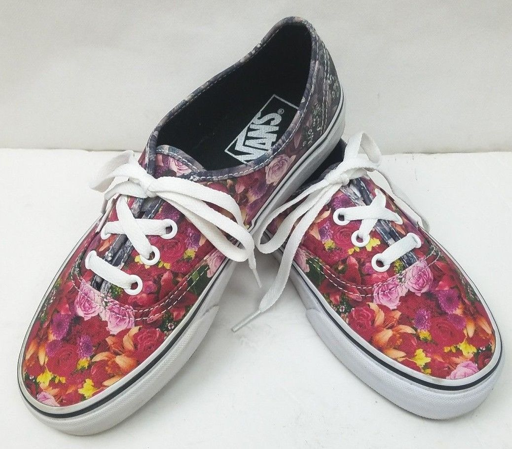 96df919ad3 57. 57. Previous. Rare Vans Women s Multicolor Flower Floral Digital Print Shoes  Sneakers Size  7
