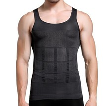 GKVK Mens Slimming Body Shaper Vest Shirt Abs Abdomen Slim, Gray, XXLche... - $16.72