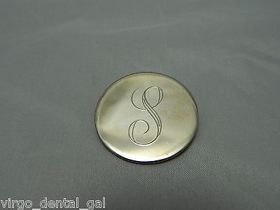 """VTG Gold Tone Initial """"S"""" Brooch Pin"""
