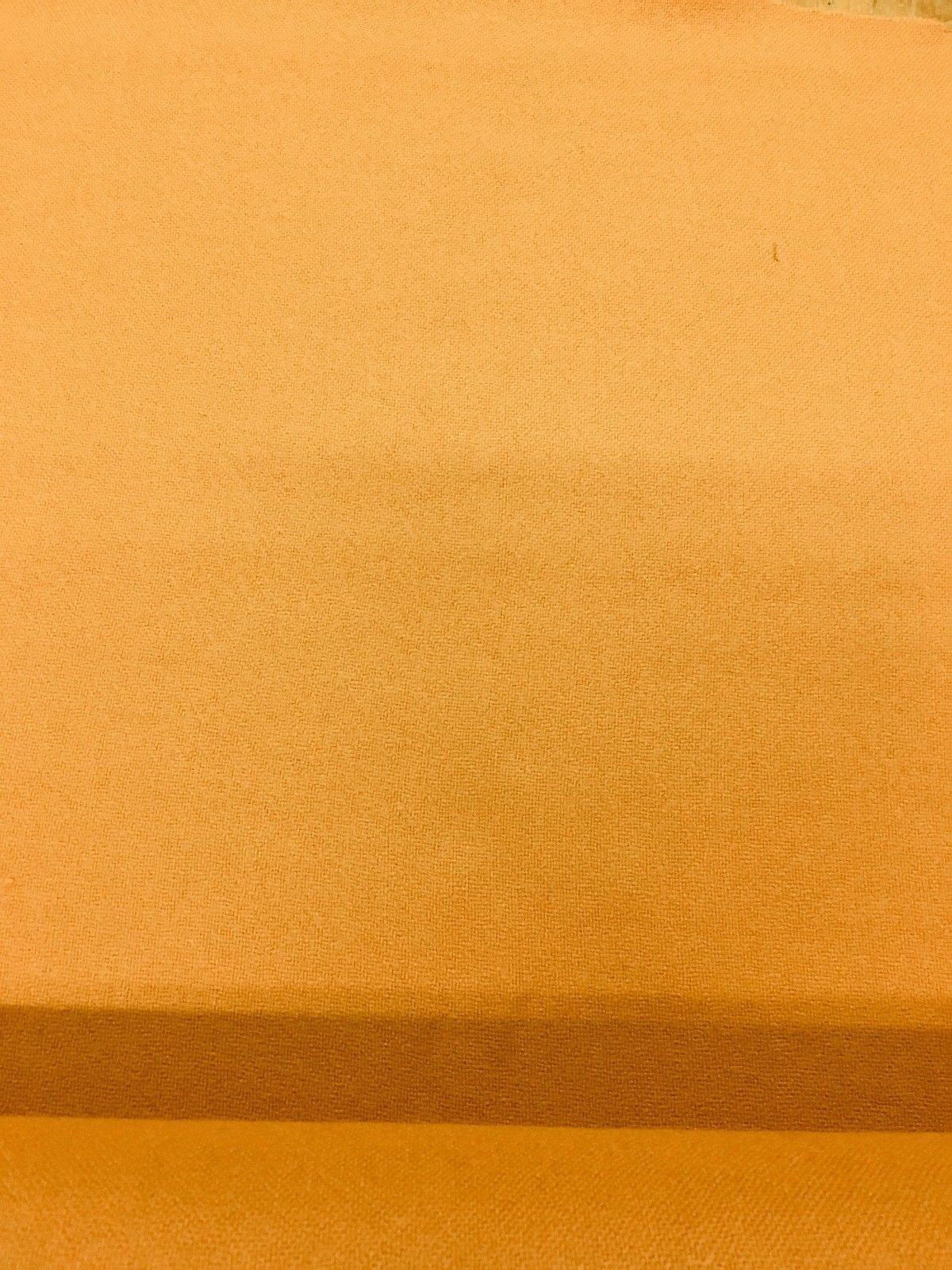 4.5 yds Mid Century Upholstery Fabric Hopsack Orange Wool AG