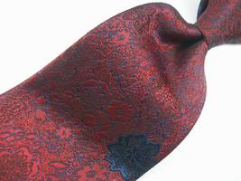 ALLYN ST. GEORGE Red Metallic Textured  Mens 100  Necktie  8-924 - $15.99