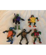 Lot of 5 Teenage Mutant Ninga Turtle Action Figures 2000s Playmate 2003 ... - $54.45