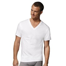 3-Pack Hanes Big Men's ComfortSoft TAGLESS V-Neck Undershirt - White - 2... - $23.74