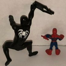 Spider-Man Lot of 6 Action Figures 2005 2006 Marvel Symbiote Comics Black Suit image 7