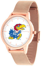 Kansas Jayhawks Women Mesh Statement Rose Pink Watch  - $94.95