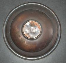 Judaica Israel Vintage Copper Tray Zel Zion Signed 1960's Wall Hang Verdigris  image 4