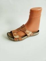 Earth Abaca Henna  leather  slipons sandals - $17.77