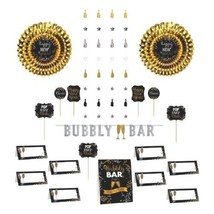 New Years Eve Bar Decorating Kit  Banner, Picks, Cards, Fans, Decor 23 Pc - $23.74