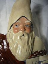 Vaillancourt Folk Art Santa with Delft Punchbowl & Ginger Cake Signed image 6