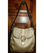 Coach Gold Studded Lurex Signature Flap Duffle Bag 12852 - $56.99