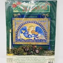 Vtg Dimensions Christmas Wall Hanging Felt Mosaic Angel Banner Kit 18059 New  - $12.19