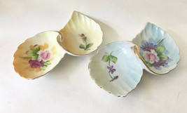 2 Lefton Double Leafed  China Trinket Dishes, No. 4674, Hand Painted, 1950s - $15.97+