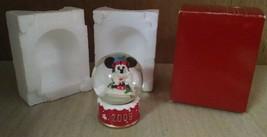 2009 Disney Mickey Mouse Santa Claus Collectible Christmas Snow Globe Ti... - $4.94