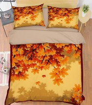 3D Tree Leaves 3 Bed Pillowcases Quilt Duvet Cover Set Single Queen King... - $64.32+
