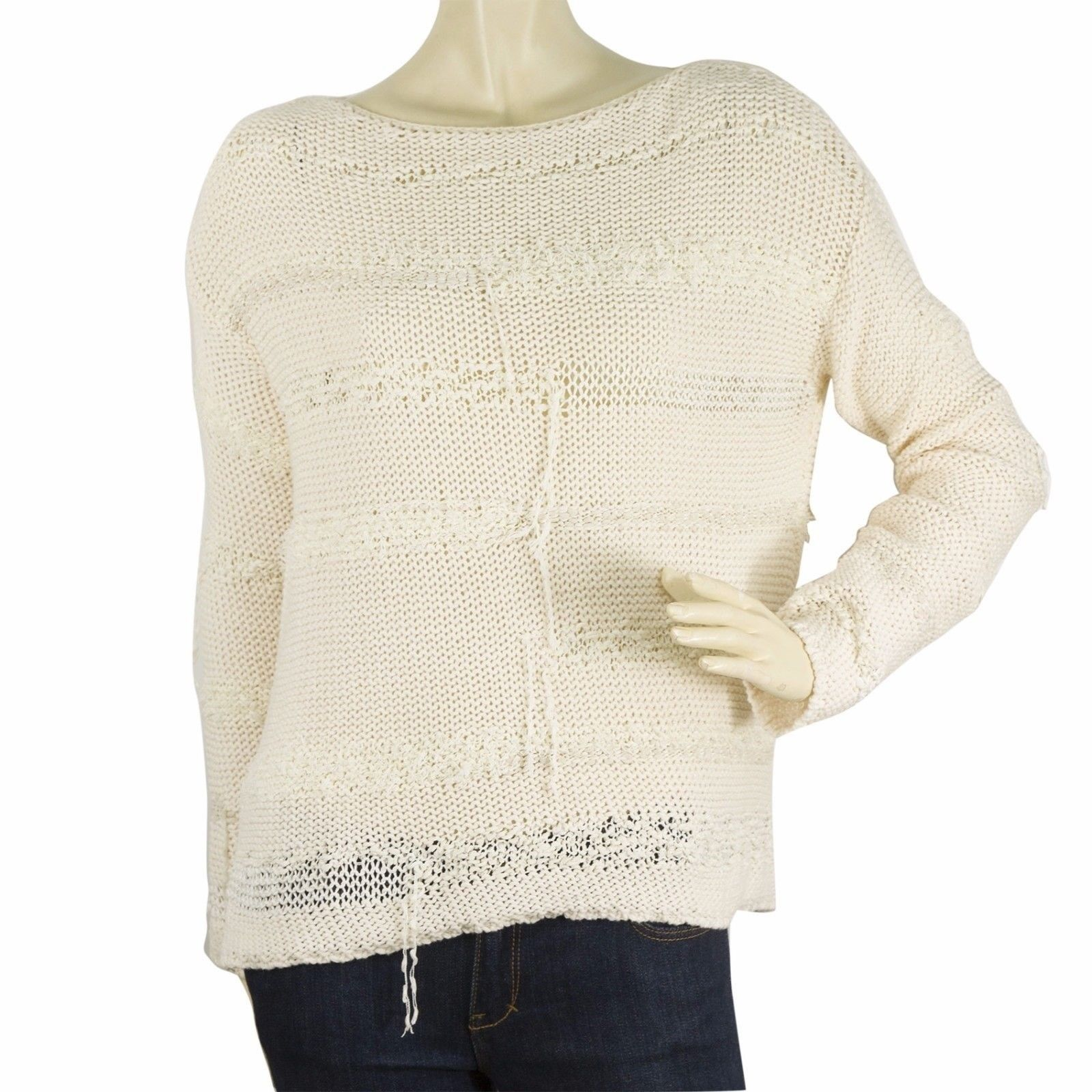 Zadig & Voltaire Deluxa line Cream Long sleeve knit blouse s master deluxe mix s - $130.90