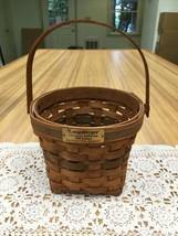 1988 Longaberger Christmas Collection Poinsettia Basket Green Weave & Trim - $13.99