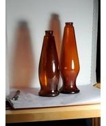 Two Vintage 1960-1970  Dark Amber Brown Michelob Beer Bottkes - $25.73
