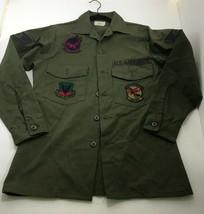 US Army Mens Long Sleeve VTG USAF Utility Shirt 8405-00-614-9970 Size 14½ x 31 - $33.24